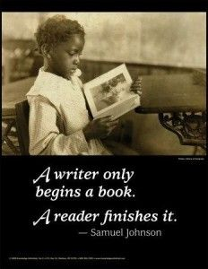 reader finishes a book