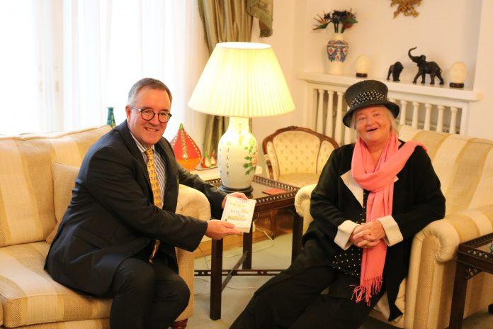 British Ambassador Andrew Noble, Bucharest, Romania, Arabella McIntyre-Brown, A Stake in Transylvania, book launch
